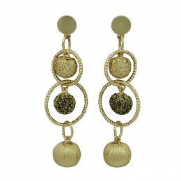 Inspiration Earring Gold Sparkle O2