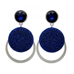 Inspiration Earring Blue Sparkle O3