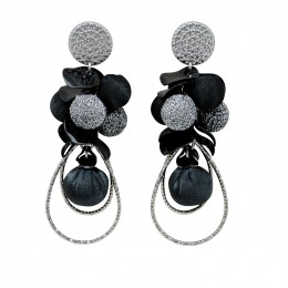 Inspiration Earring Silver Sparkle O4