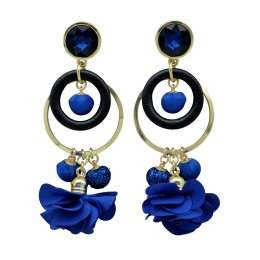 Inspiration Earring Blue Glam  O1