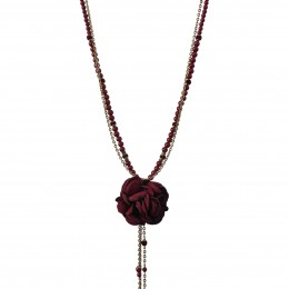 Inspiration Necklace Red Flower H20