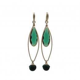 Inspiration Earring Green Crystal O74