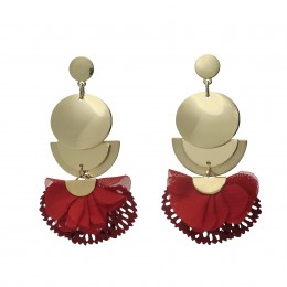 Inspiration Earring Red Moon O82