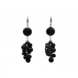 Inspiration Earring Black Pearl O90