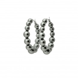 Inspiration Earring Silver Pearl O95