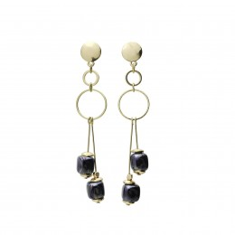 Inspiration Earring Dark Blue Mist O115
