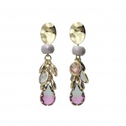 Inspiration Earring Purple Glow O112