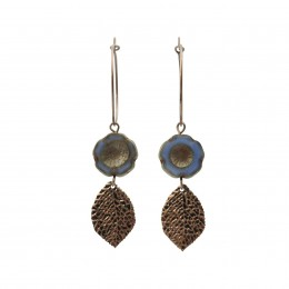 Inspiration Earring Natural Blue O132