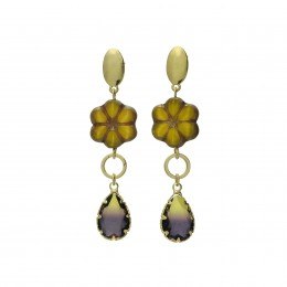 Inspiration Earring Yellow Iris O130