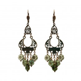 Inspiration Earring Boho Emerald O127