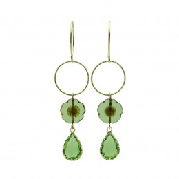 Inspiration Earring Crystal Green O140