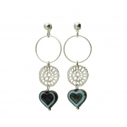 Inspiration Earring Silverblue Sky O138