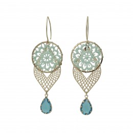 Inspiration Earring Blue Illusion O156