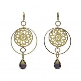 Inspiration Earring Sand Crystal O163
