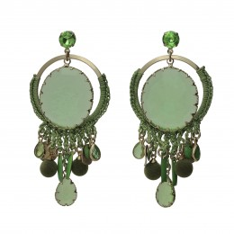 Inspiration Earring Green Crystal O145