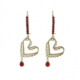 Inspiration Earring Red Desire O239