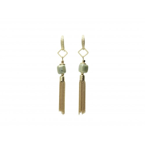 Inspiration Earring Natural Green O114