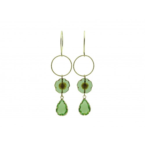 Inspiration Boucle d´oreille Crystal Green O140