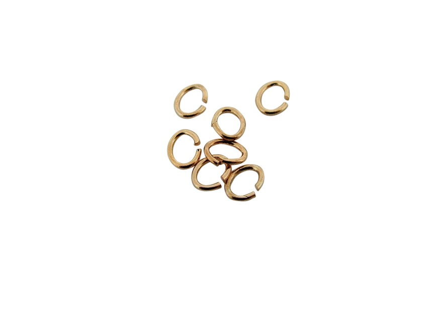 Ovale o-ring 4 mm rosé gold