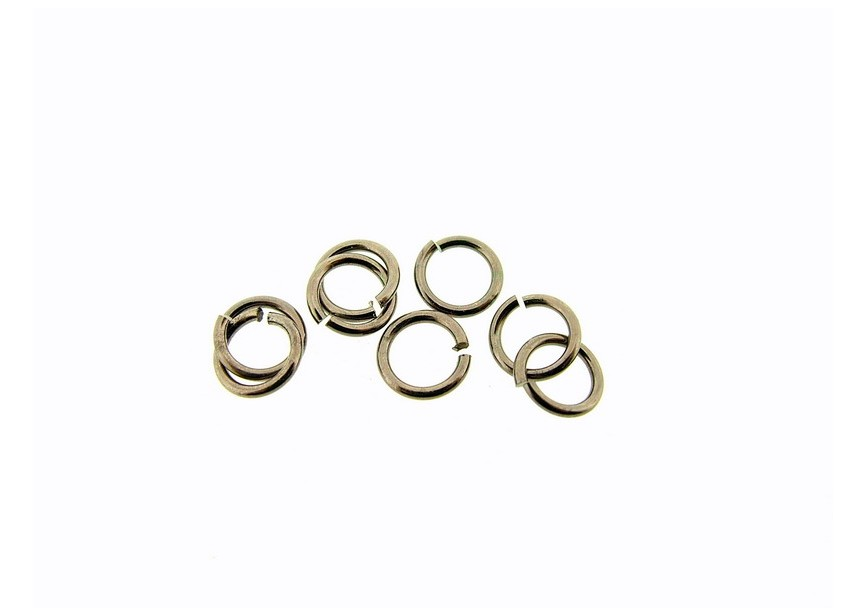 O-ring 7 mm chocolate gold