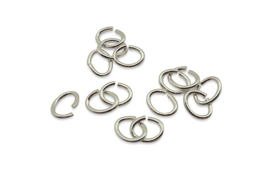 Ovale o-ring 6.8/0.9mm zilver