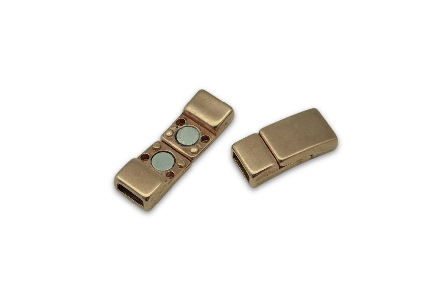 magneet slot 17x8/6mm rosé gold