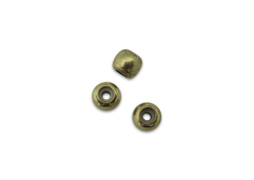 Stopper bead 6mm oud goud