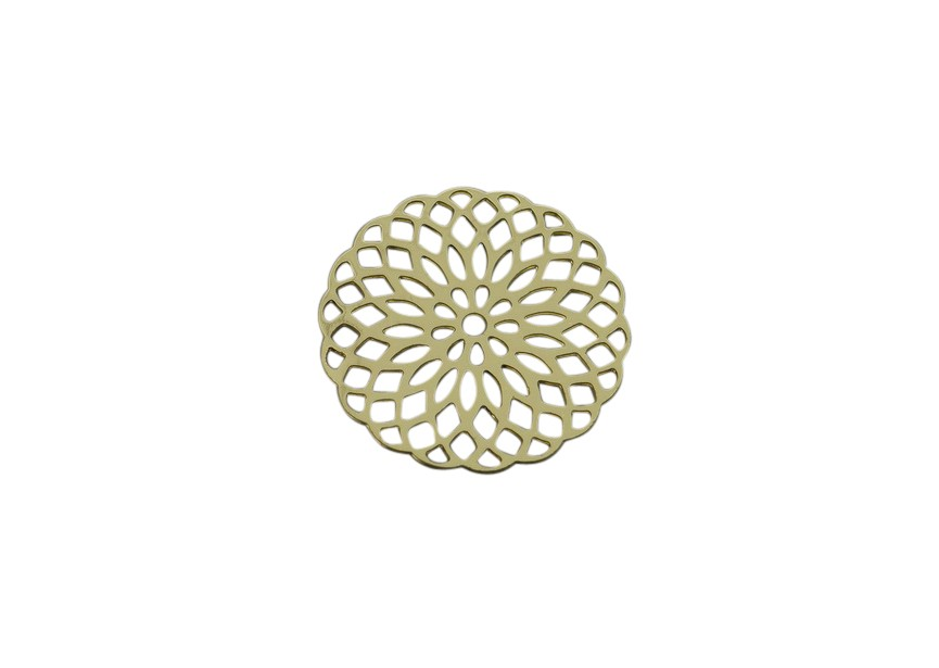 Pendant filigree 20mm gold