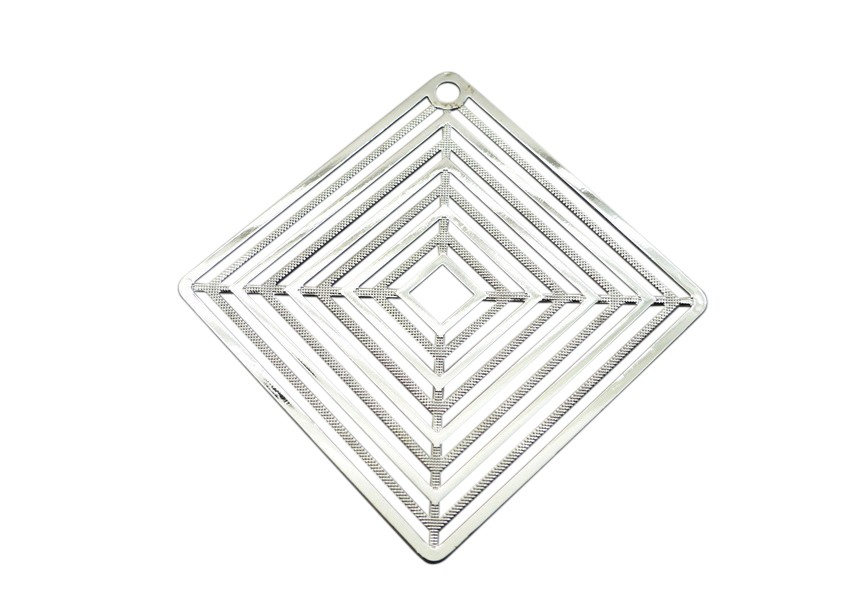 Pendant 56x41mm rhodium