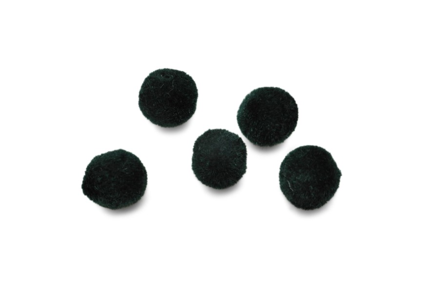 Flocking wool balls 8mm green