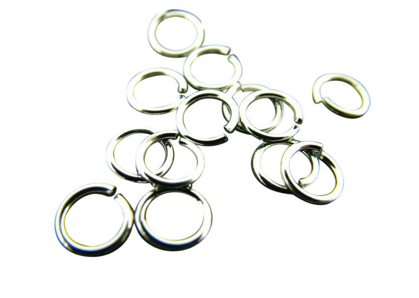 O-ring 7 mm rhodium