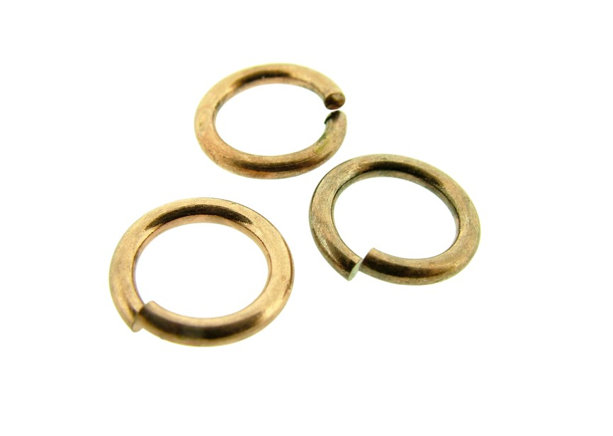 O-ring 10mm/1.5mm dikte, oud koper