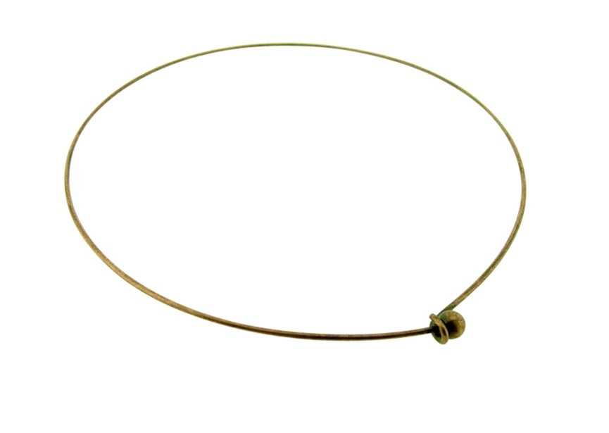 Basis collier los bolletje 13mm oud koper