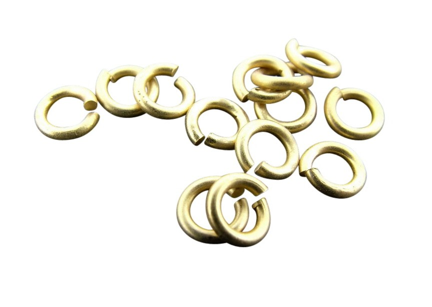 O-ring 5 mm mat goud