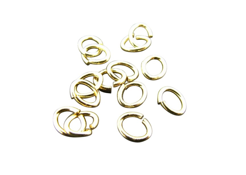 Oval O-ring 4 mm gold