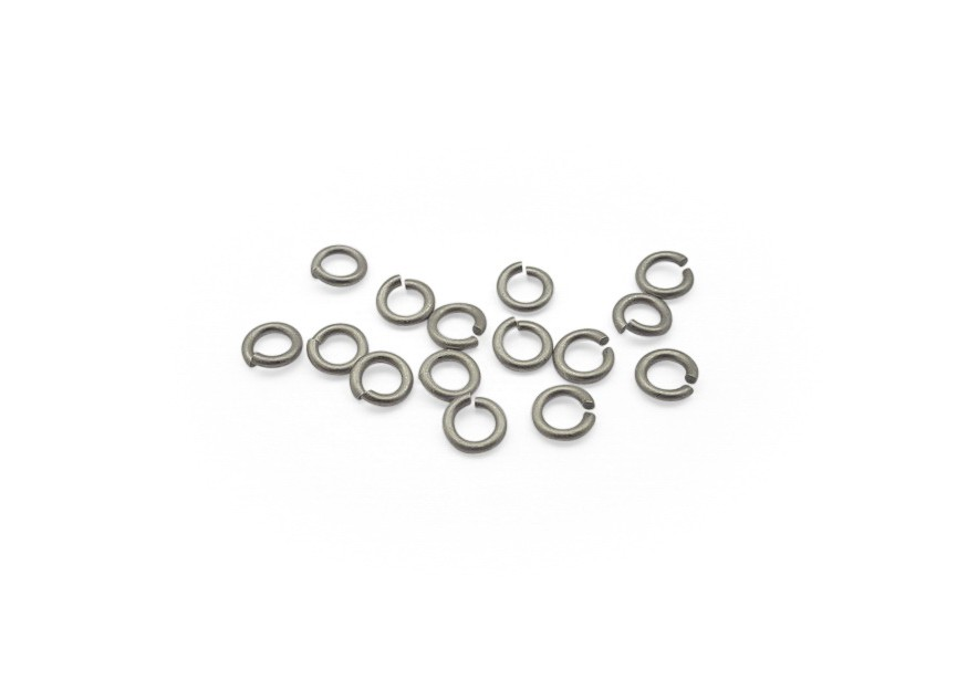 O-ring 5 mm mat rhodium