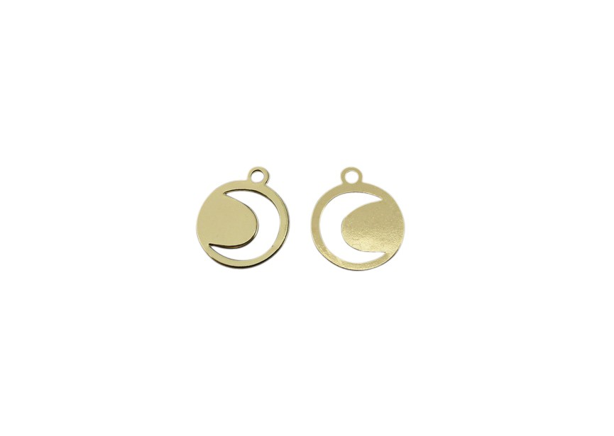 Pendant moon 12mm gold