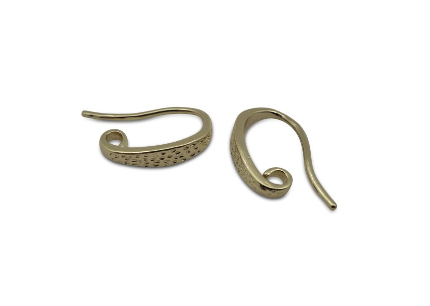 oorhaak open 15x3mm goud