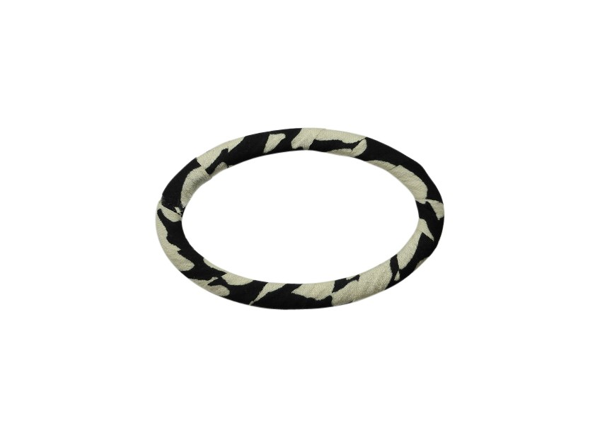 Link/connector oval satin 57x36mm black beige