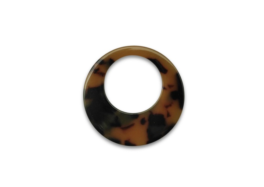 Resin pendant 39mm brow mix