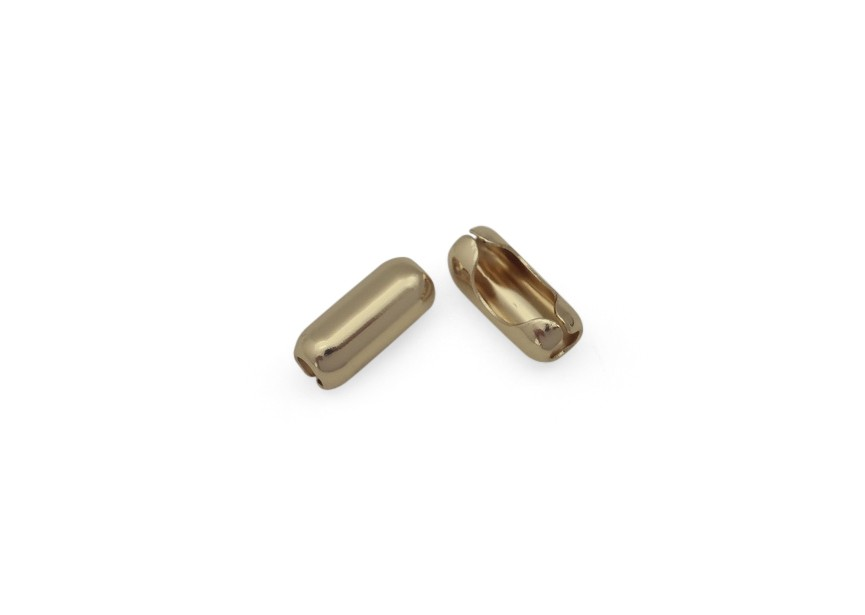 Ball chain connector 16x8/7mm gold