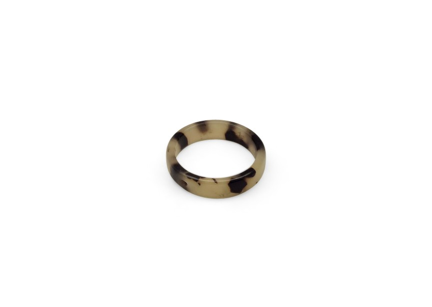 Resin spacer ring 30x3mm light brown mix