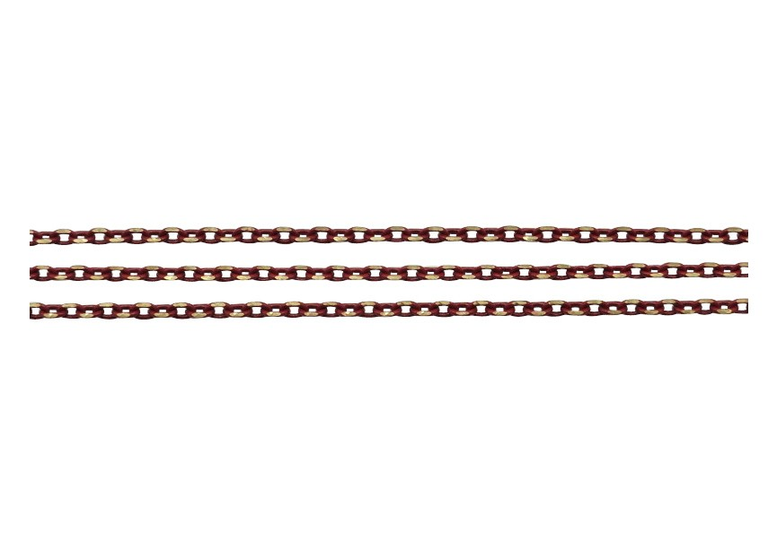 Chain oval facet 3x1.8mm d.red