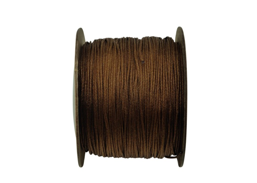 Polyester cord 0.8mm 100m brown
