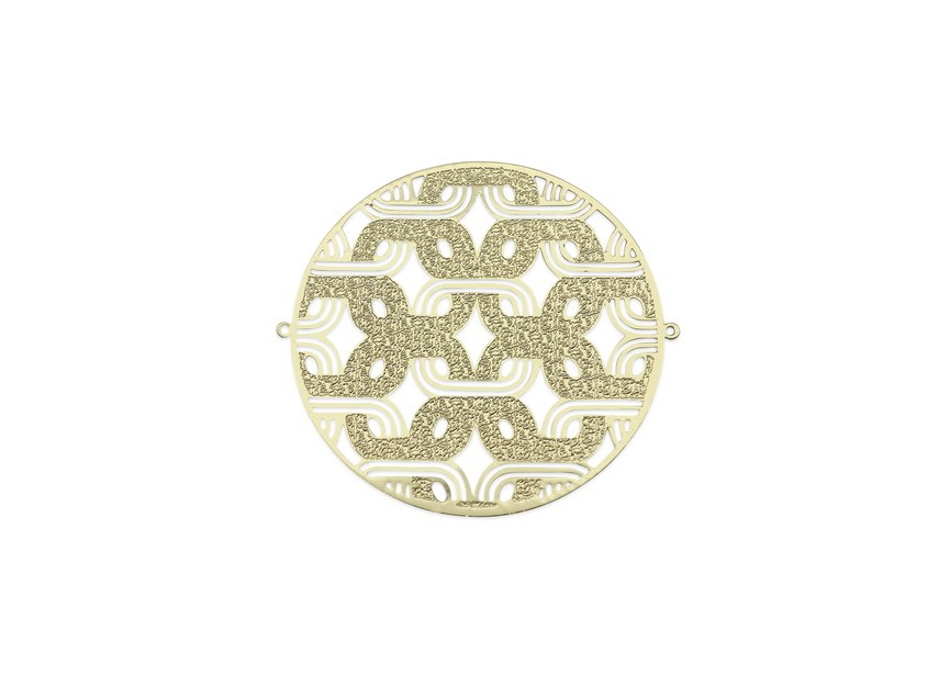 Spacer filigree 43x40mm gold