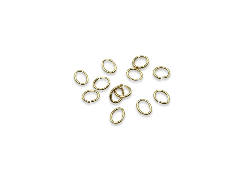 Ovale o-ring 6.8/0.9mm goud