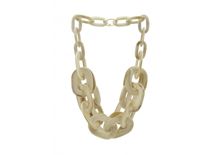 Chain acrylic 54x40mm beige